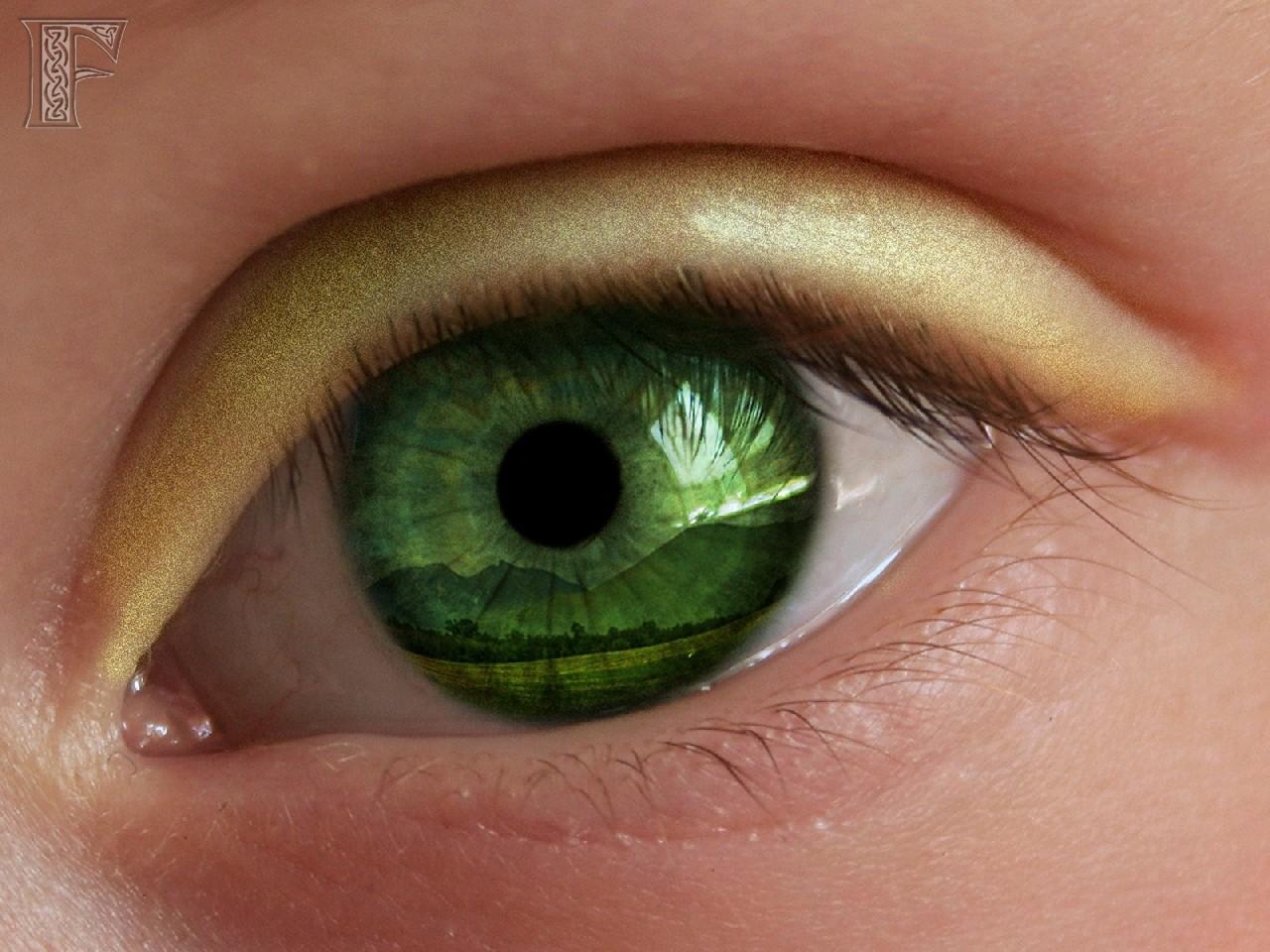 Как сделать желтые глаза 474