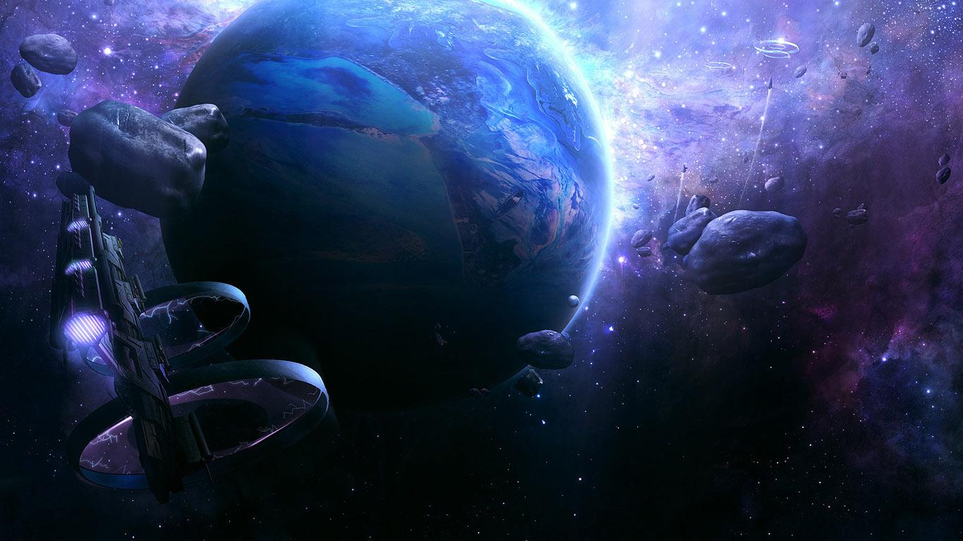 Kartinka Kosmicheskij Korabl Vozle Planety Fantastika Hd Foto