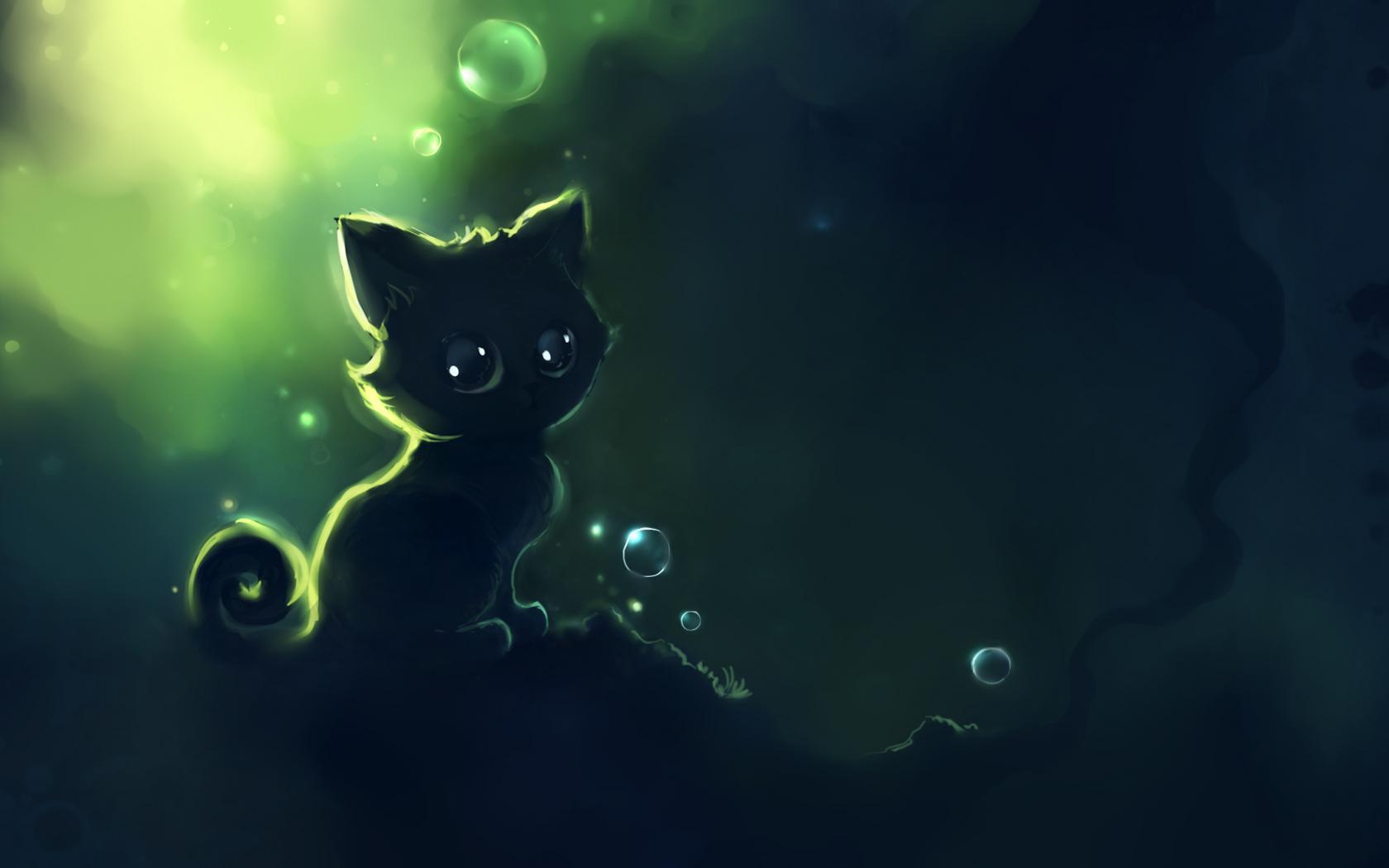 нарисованная кошка обои на рабочий стол № 1412673 бесплатно